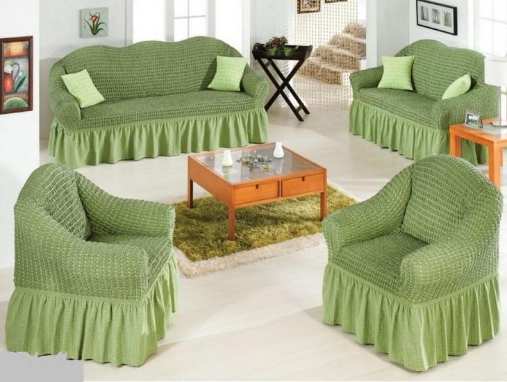чехол на диван зеленый Karbeltex купить постельное белье в